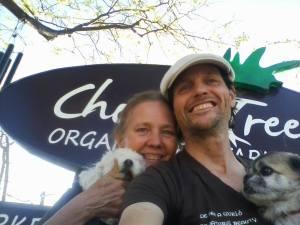 Molly, Susan, Philip, Shiva at Chocolatree, Sedona
